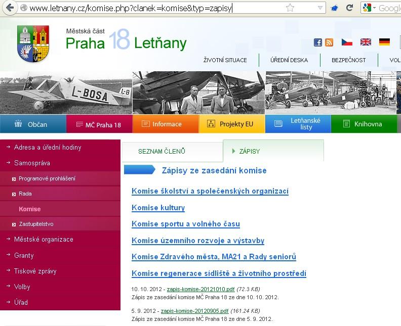 http://www.letnany.cz/komise.php?clanek=komise&typ=zapisy